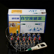 New 24 Cups Chinese Vacuum Body Cupping Massage Therapy Healthy Suction Set