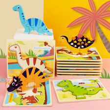 Wooden Animal Puzzles For Toddlers 1 2 3 Years Old Boys Girls Educational Toy