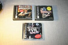 Resident Evil 1, 2, 3 Games for Playstation 1 PS1: Complete and Tested