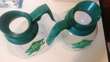 Red Diamond Schott Duran Green Handle 64-oz 8-Cup Glass Coffee Pot Decanters