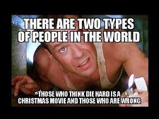"""Die Hard Christmas Movie Meme 2""""x3"""" Flexible Fridge Magnet"""