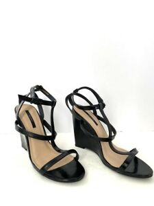 Forever 21 Black Wedge Sandals Size 10 Chic Spring