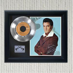 """Elvis Presley """"Burning Love"""" Framed Silver Signed Record Display"""