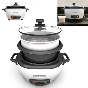 Black & Decker RC506 6-Cup Cooked/3-Cup Uncooked Rice Cooker And Food Steamer