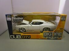 JADA 1/24 DUB CITY BIGTIME MUSCLE WHITE 1969 CHEVY CHEVELLE SS USED *READ*