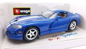 1996 Dodge Viper GTS Coupe, BBURAGO  Die Cast Made In Italy, SCALE 1/18