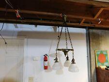 Antique Two Tier Brass Ceiling Light / Chandelier