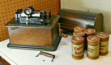 Antique Edison Standard Cylinder Phonograph Estate Find