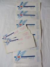 AAA Davenport Iowa 1957 Letters Planning Hawaii Cruise Lot of 6 w 3 Envel #7354