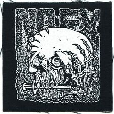 NOFX skull syringe CLOTH PATCH **FREE SHIPPING** -sew on, punk, maximum r'n'r