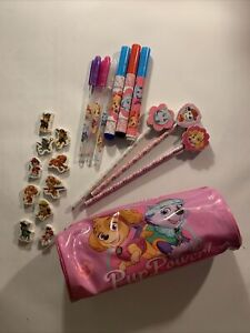 Small Bundle Paw Patrol Stationery - Pencil Case/Pens/Pencils/Gels/Rubbers