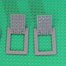 Lego lot of 2 Case Door Trap Door 92099 92107 30042 6x8 Dark Grey DarkGray #8028