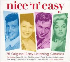 NICE 'N' EASY - 75 ORIGINAL EASY LISTENING CLASSICS - VARIOUS ARTISTS (NEW 3CD)