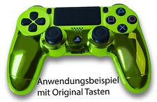 Playstation PS4 Controller Case Hülle Gehäuse Chrome Modding Cover Grün