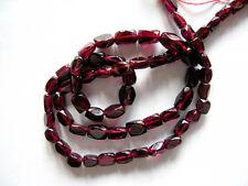 Garnet nugget beads 4x6mm