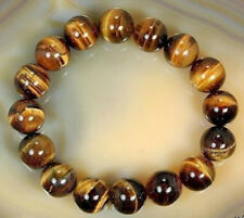Natural African Roar Gemstone Natural Tiger's Eye Stone Round Beads Bracelet