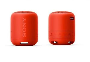 Sony XB12 Extra Bass Portable Waterproof Bluetooth Speaker 16 Hr Battery - Red
