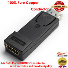 DisplayPort to Gold HDMI Adapter (Male to Female) with Audio in Black