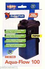Superfish Aqua Flow 100 Filtre Interne 50 -100 L Litres Double Action