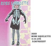Costume scheletro ragazza carnevale o halloween taglia 11/14 anni