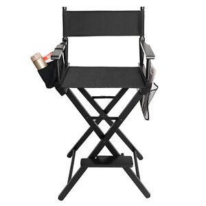 Folding Make up Artist Directors Chair Salon Makeup Use Portable Black Foot IM
