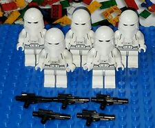 LEGO Star Wars Hoth Rebel SnowTrooper Minifigure lot x5 w Blaster Gun Army