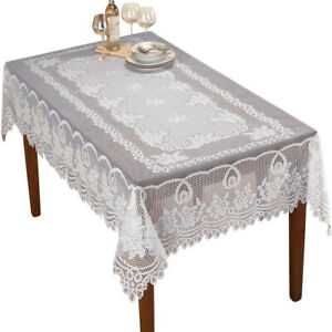 Vintage Lace Tablecloth Rectangle Table Cloth Cover Dinner Wedding Party Decor