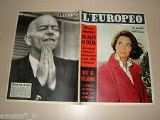 EUROPEO=1957/36=LEA MASSARI=PALLANZA=PREDAPPIO FERETRO MUSSOLINI=PAMPLONA TORI=