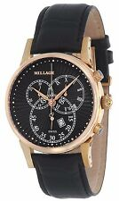 MILLAGE HAMPTON COLLECTION ML-15211 SWISS QUARTZ 6 JEWELS CHRONOGRAPH DATE WATCH