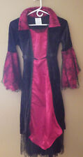 "Halloween Witch Dress Child Large Gothic Webs Spirit Halloween Black Red 45"" L"