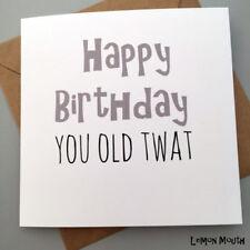 Tarjeta de cumpleaños divertido/amigos/compañeros/humor grosero// diversión/sarcasmo/Chistes-OT