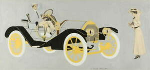 Coles Phillips Motor Car Poster Reproduction Paintings Giclee Canvas Print