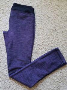 Lululemon Running Athletic Training Yoga Pants Women's Size 8 Purple/Black