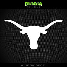 Texas - Longhorns - Icon - NCAA - White Vinyl Sticker Decal 5""