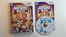 My Sims Party (Nintendo Wii, 2009) COMPLETE CIB - CANADA FREE SHIPPING !!!