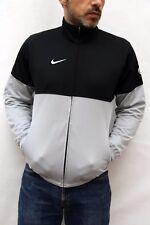 Nike Grey Black Stylish Tracksuit Top Jacket S Small GB 35 37 Vintage 90s SUPER