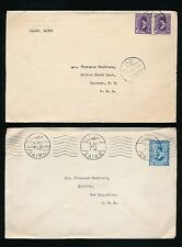 EGYPT 1933 USA DIPLOMATIC ENVELOPES LEGATION EMBOSSED +MACHINE POSTMARK Washburn