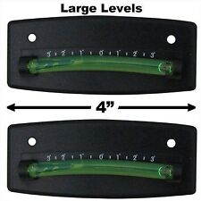 Bubble Graduated Scale Level RV Level One Pair Trailer Leveler Large (Black)