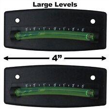 Bubble Graduated Scale Level RV Level One Pair Trailer Leveler Large (Black)