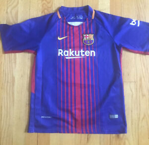 YOUTH VTG Men's FC Barcelona Sz M Home Jersey Shirt soccer shirt Messi