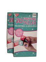Lot Of 2 Valentines Pkgs - 20 Fortune Teller Valentines & envelopes