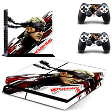 Metal gear solid Decal Skin Sticker for standard PS4 Console and 2 Controllers