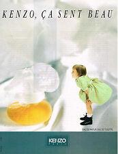 PUBLICITE ADVERTISING 025  1990  Les parfums eau de toilette KENZO