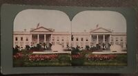 1898 The White House N. Front & Grounds Washington Stereoview T W Ingersoll 237