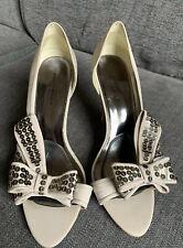 Karen Millen Ladies Shoes 6 39 Bow Sequin Occasion Smart Bow Grey Party Races