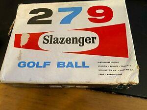 Vintage Slazenger Golf Box with 7 wrapped Balls