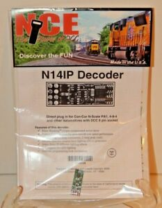 NCE #177 N14IP HO DCC Decoder for HO and N engines w/NMRA 8-pin Plug NEW
