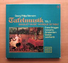 Telemann Tafelmusik Vol. 1 Leonhardt Frans Bruggen 2xLP Telefunken 6.35056 NM