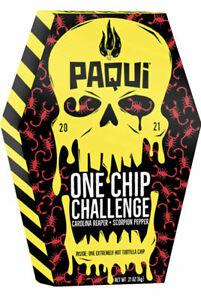 Paqui One Chip Challenge NEW 2021 Carolina Reaper Scorpion HOT Pepper Tortilla