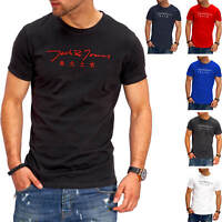 Jack & Jones Herren T-Shirt O-Neck Print Shirt Kurzarmshirt Short Sleeve Casual